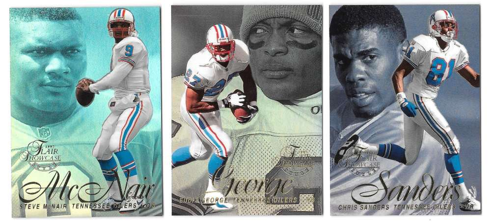 1997 Flair Showcase Row 2 Football - TENNESSEE OILERS
