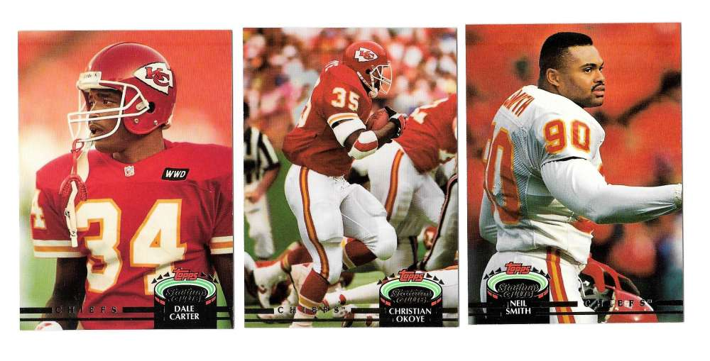 1992 Topps Stadium Club (1-700) Football Team Set - KANSAS CITY CHIEFS