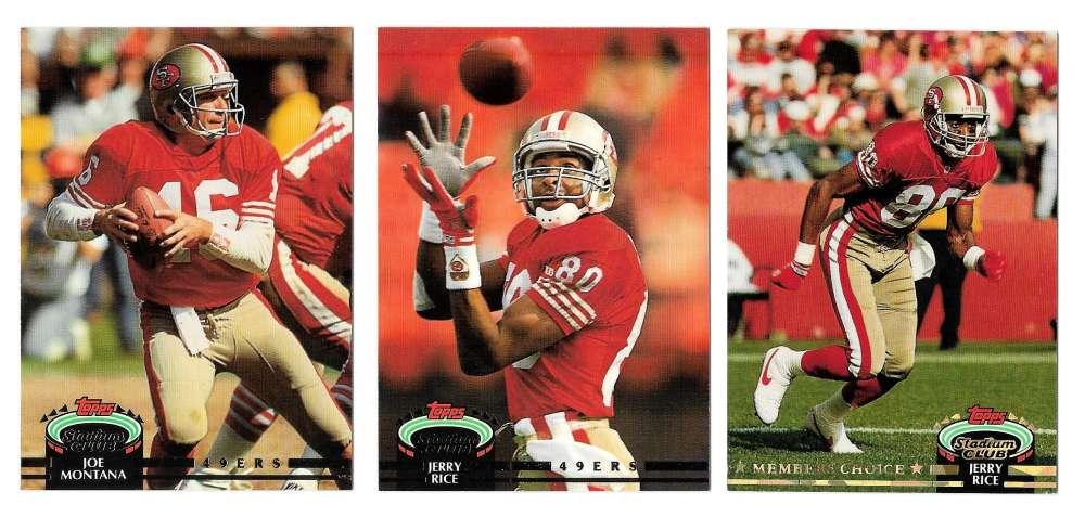 1992 Topps Stadium Club (1-700) Football Team Set - SAN FRANCISCO 49ERS