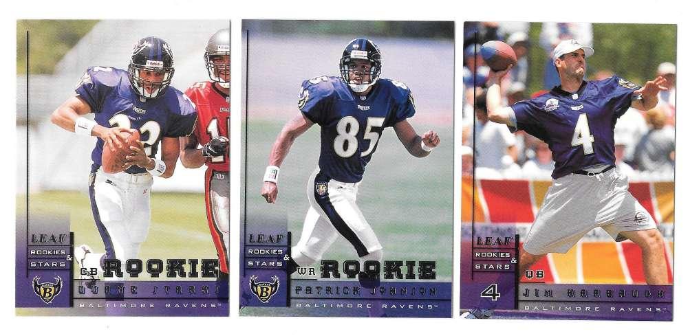 1998 Leaf Rookies and Stars Football (1-300) Team Set - BALTIMORE RAVENS