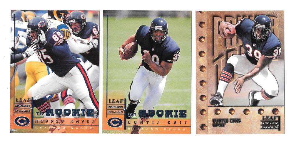 1998 Leaf Rookies and Stars Football (1-300) Team Set - CHICAGO BEARS