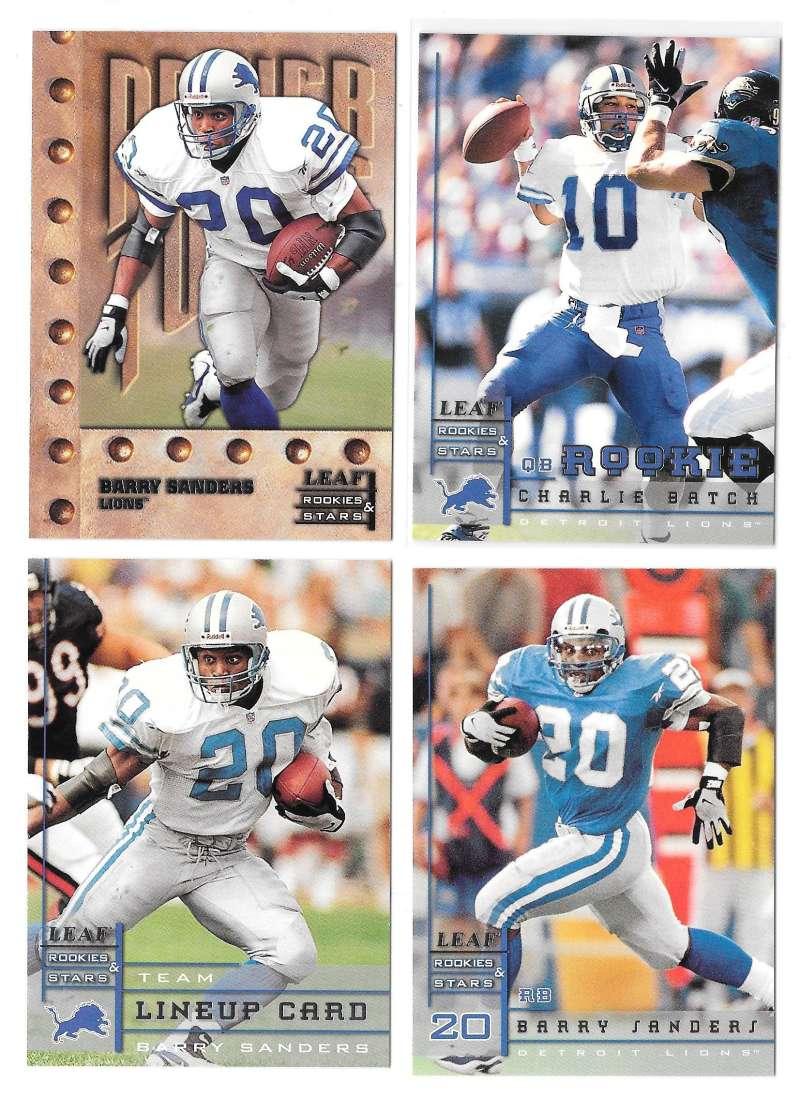 1998 Leaf Rookies and Stars Football (1-300) Team Set - DETROIT LIONS