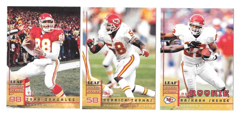 1998 Leaf Rookies and Stars Football (1-300) Team Set - KANSAS CITY CHIEFS