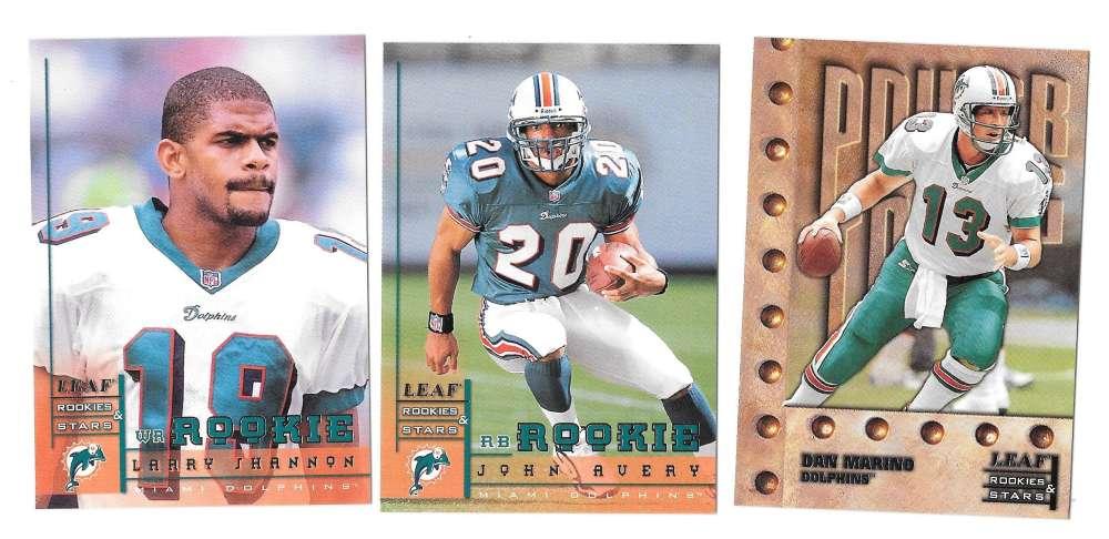 1998 Leaf Rookies and Stars Football (1-300) Team Set - MIAMI DOLPHINS