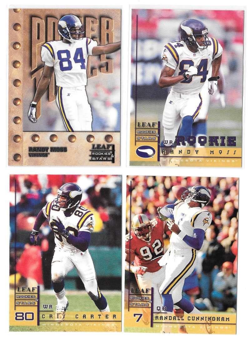 1998 Leaf Rookies and Stars Football (1-300) Team Set - MINNESOTA VIKINGS