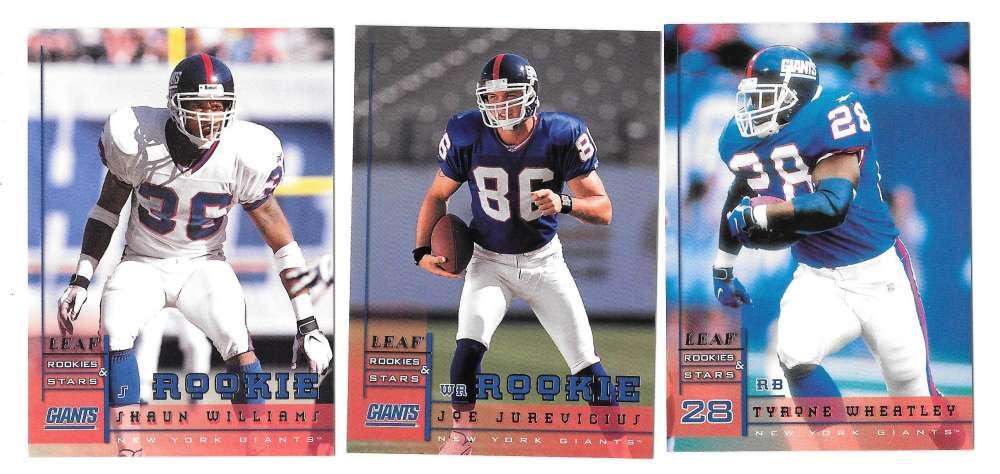 1998 Leaf Rookies and Stars Football (1-300) Team Set - NEW YORK GIANTS