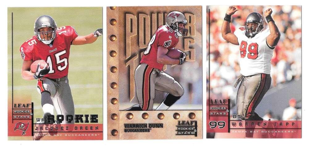 1998 Leaf Rookies and Stars Football (1-300) Team Set - TAMPA BAY BUCCANEERS