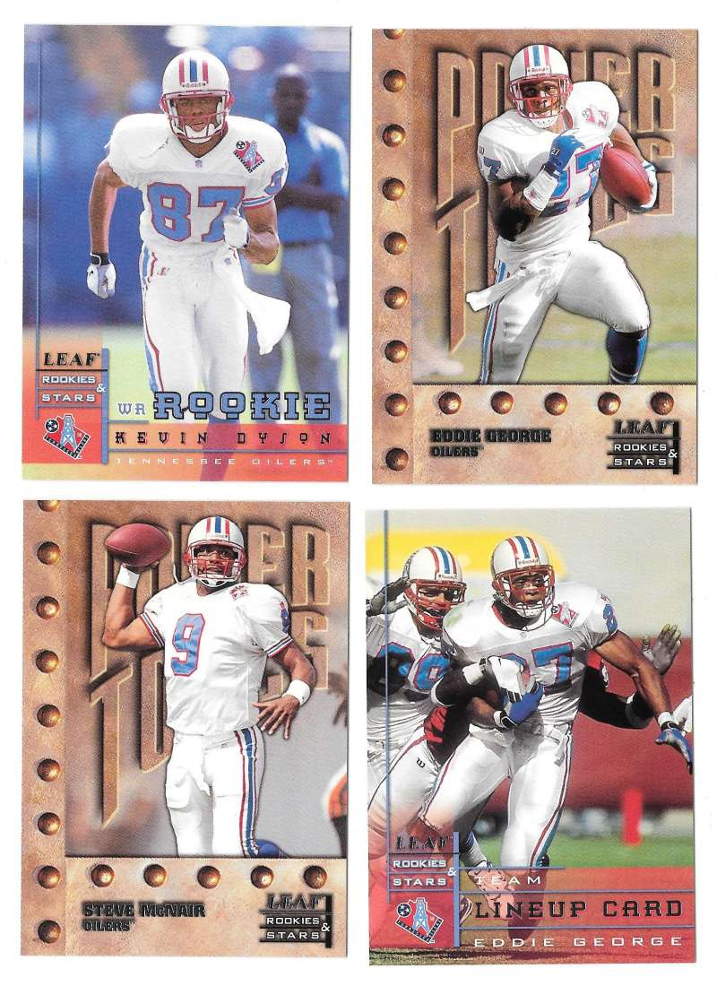 1998 Leaf Rookies and Stars Football (1-300) Team Set - TENNESSEE OILERS