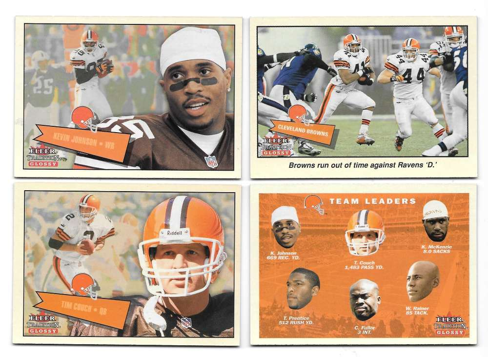 2001 Fleer Tradition Glossy Football (1-400) - CLEVELAND BROWNS