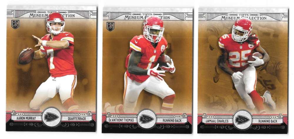 2014 Topps Museum Collection Copper Football - KANSAS CITY CHIEFS
