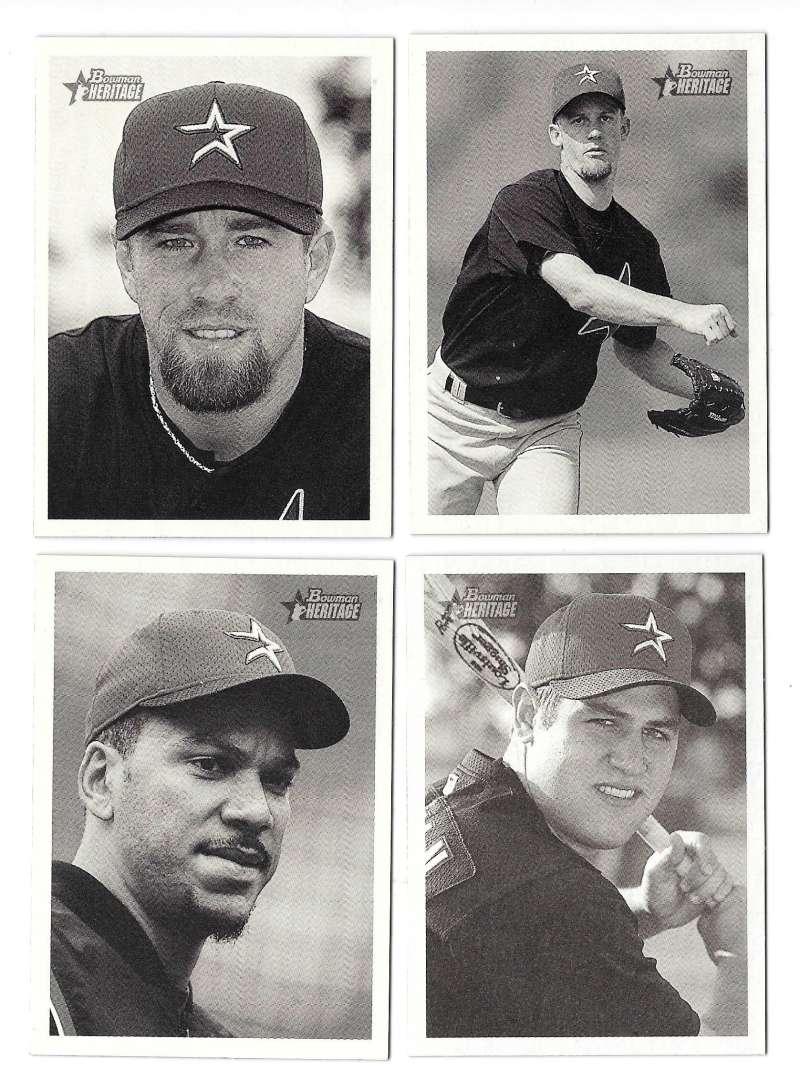 2001 Bowman Heritage W/ SP's (1-440) - HOUSTON ASTROS Team Set