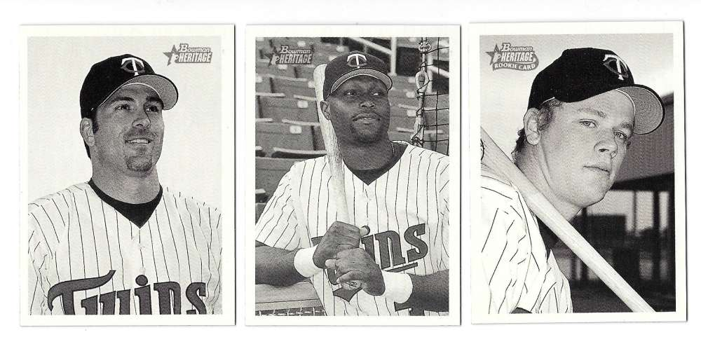 2001 Bowman Heritage W/ SP's (1-440) - MINNESOTA TWINS Team Set JUSTIN