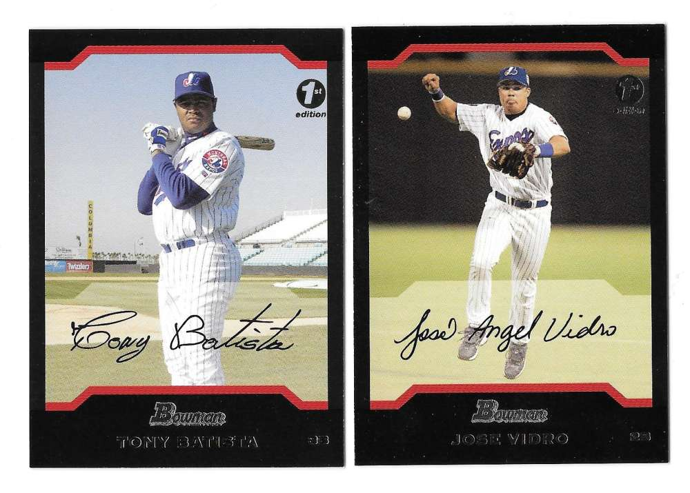 2004 Bowman First Edition - MONTREAL EXPOS Team Set