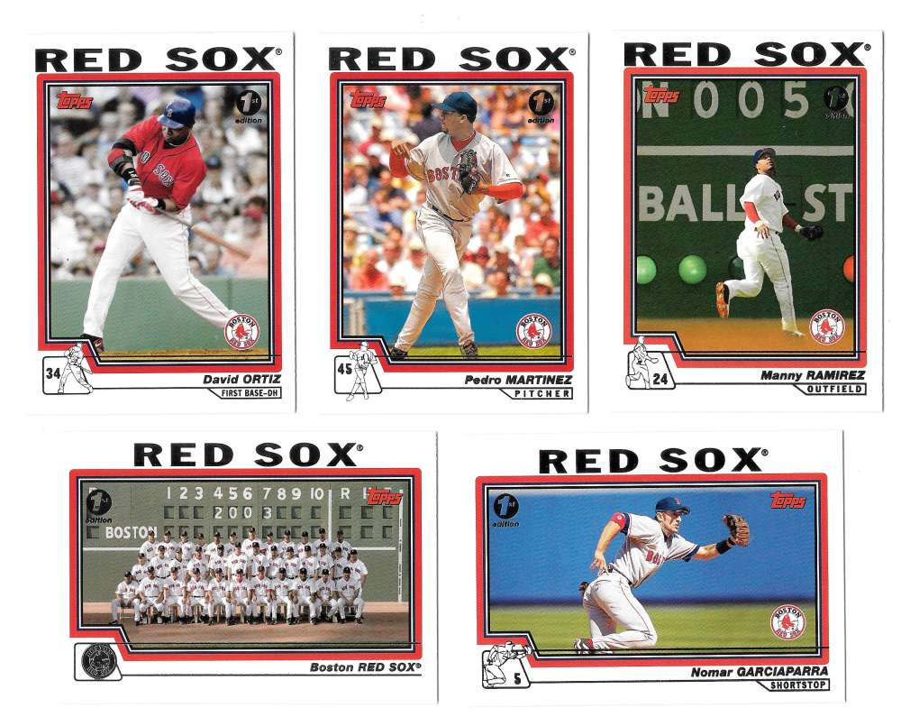 2004 Topps First (1st) Edition - BOSTON RED SOX Team Set