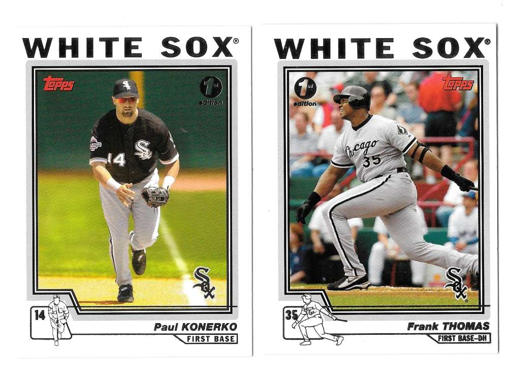 2004 Topps First (1st) Edition - CHICAGO WHITE SOX Team Set