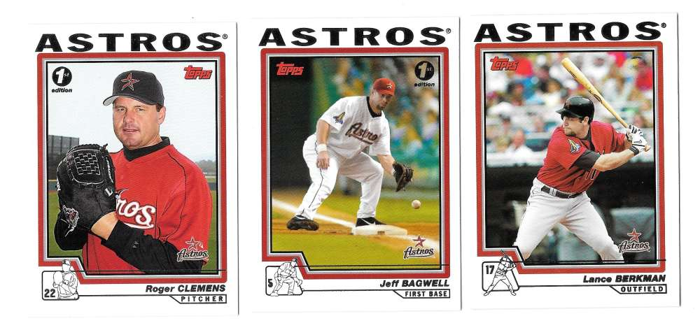 2004 Topps First (1st) Edition - HOUSTON ASTROS Team Set