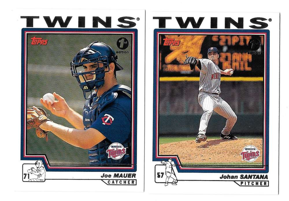 2004 Topps First (1st) Edition - MINNESOTA TWINS Team Set