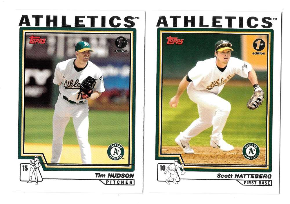 2004 Topps First (1st) Edition - OAKLAND ATHLETICS / A'S Team Set