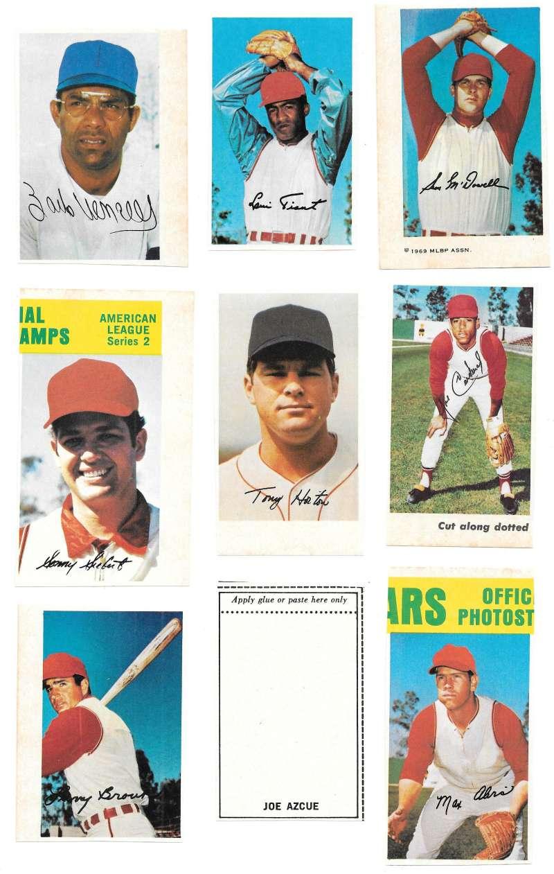 1969 MLB PhotoStamps - CLEVELAND INDIANS Team Set
