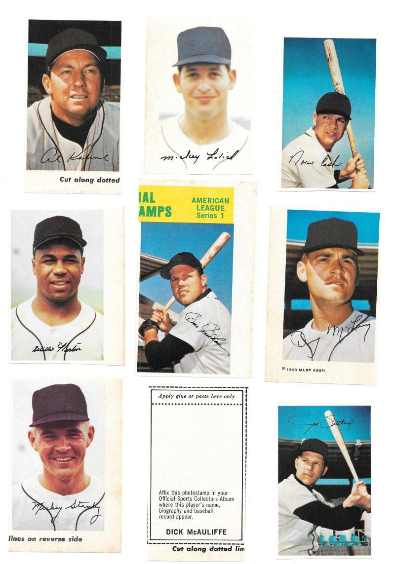 1969 MLB PhotoStamps - DETROIT TIGERS Team Set