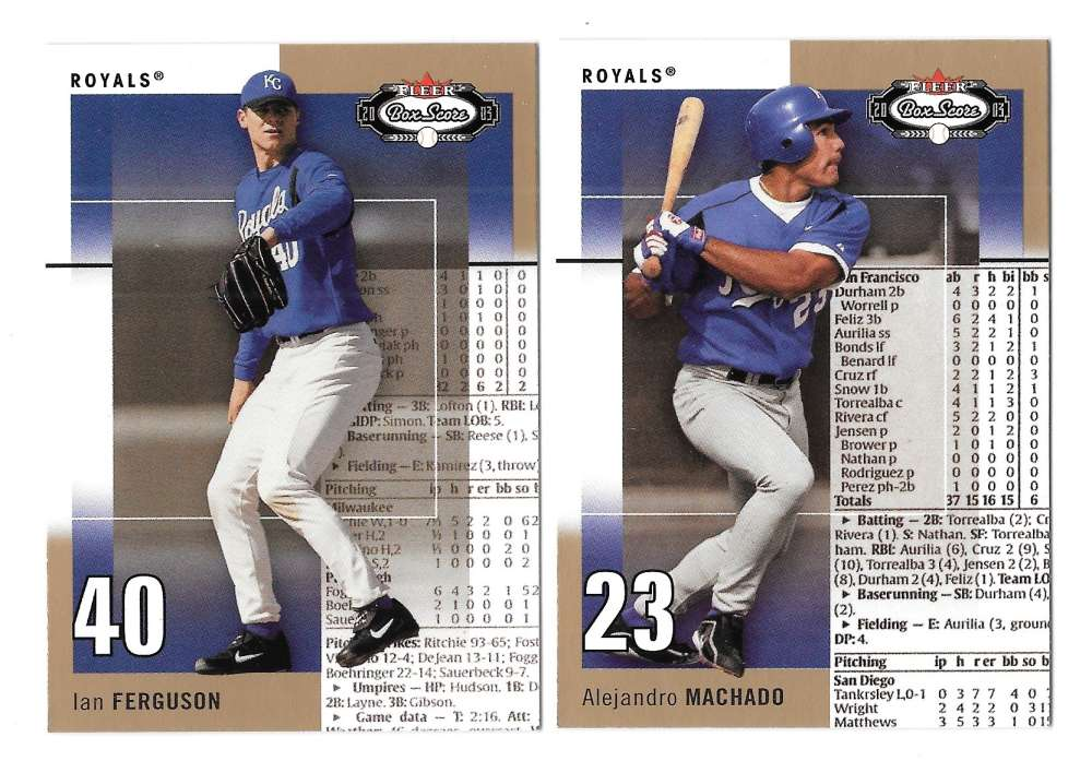 2003 Fleer Box Score Rookies - KANSAS CITY ROYALS