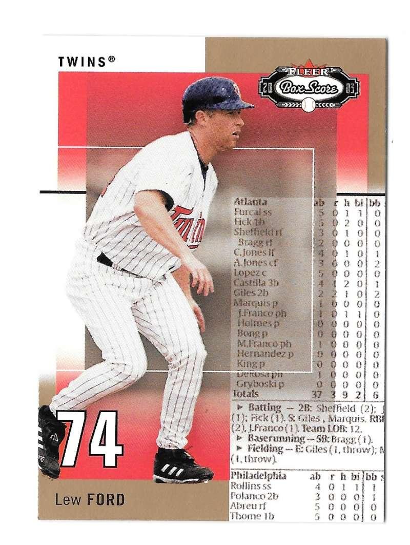 2003 Fleer Box Score Rookies - MINNESOTA TWINS