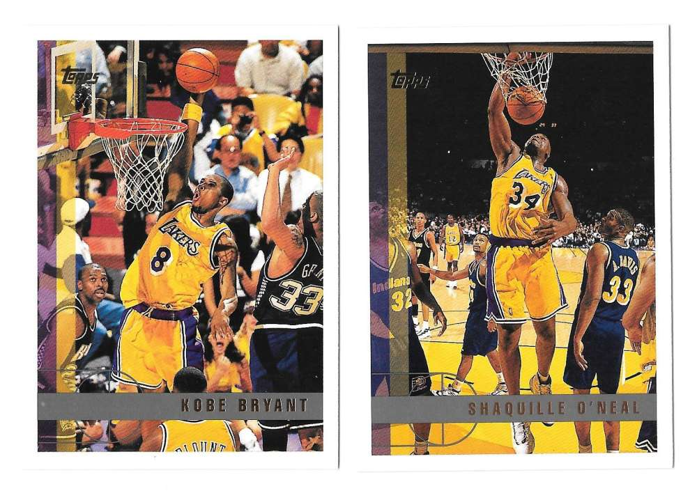 1997-98 Topps Basketball Team Set - Los Angeles Lakers