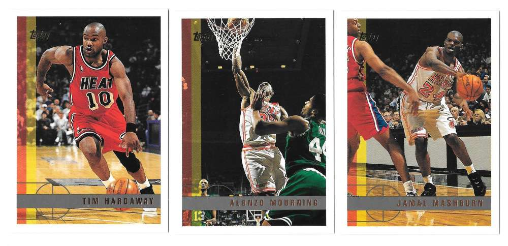 1997-98 Topps Basketball Team Set - Miami Heat