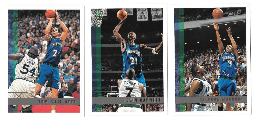 1997-98 Topps Basketball Team Set - Minnesota Timberwolves
