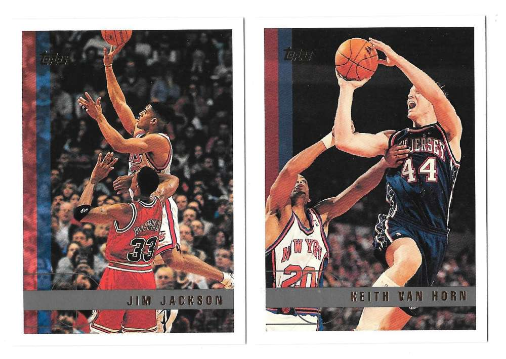 1997-98 Topps Basketball Team Set - New Jersey Nets