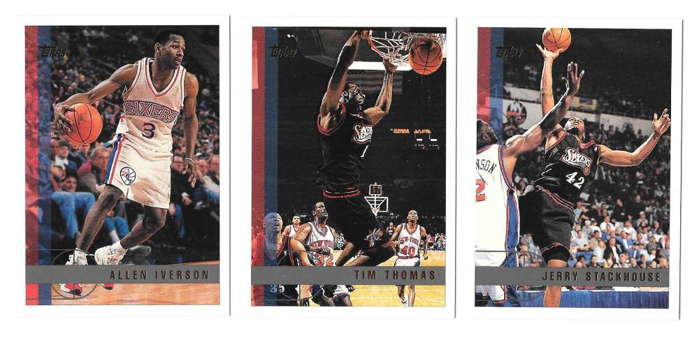 1997-98 Topps Basketball Team Set - Philadelphia 76ers