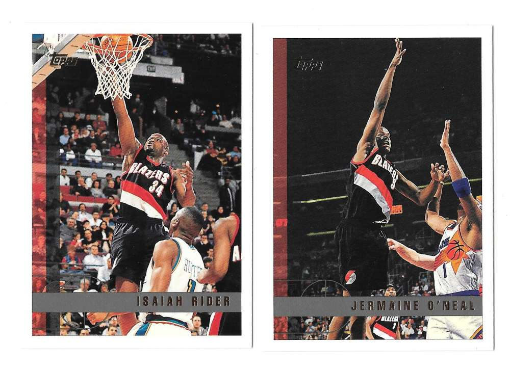 1997-98 Topps Basketball Team Set - Portland Trail Blazers