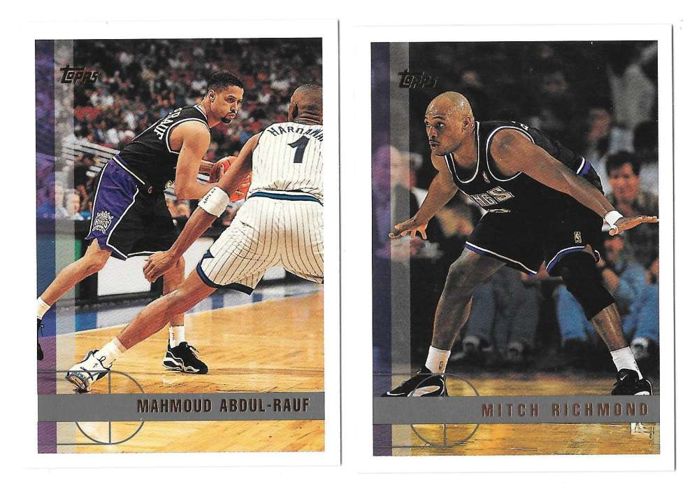 1997-98 Topps Basketball Team Set - Sacramento Kings
