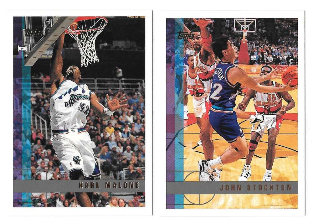 1997-98 Topps Basketball Team Set - Utah Jazz