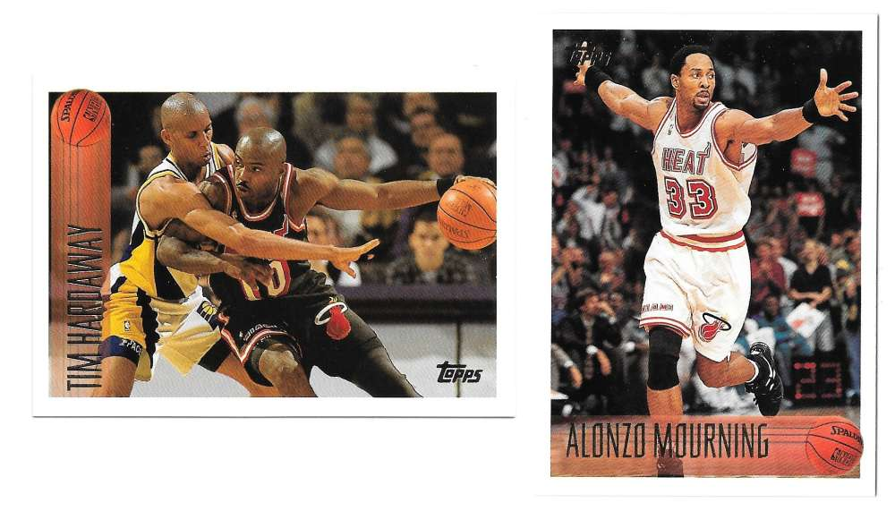 1996-97 Topps Basketball Team Set - Miami Heat