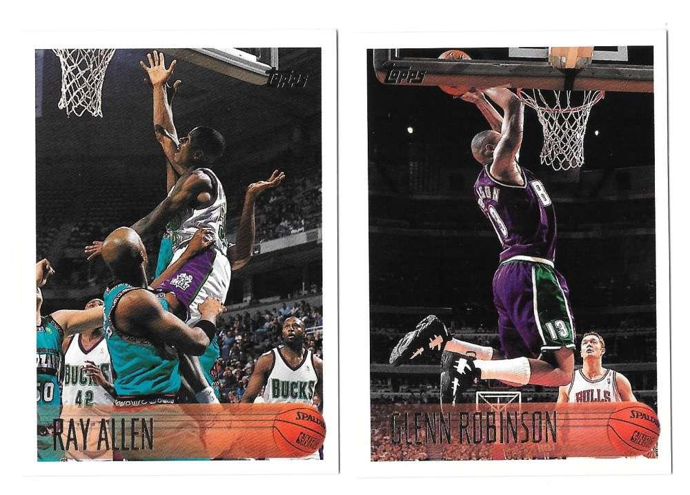 1996-97 Topps Basketball Team Set - Milwaukee Bucks