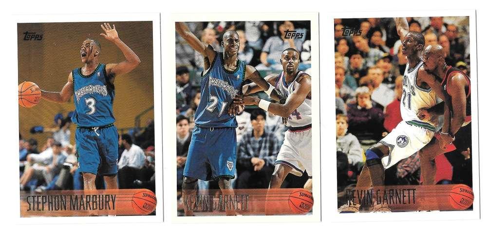 1996-97 Topps Basketball Team Set - Minnesota Timberwolves