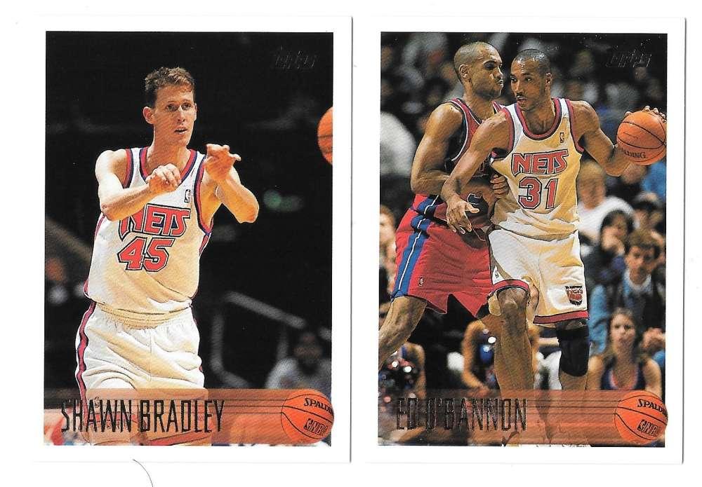 1996-97 Topps Basketball Team Set - New Jersey Nets