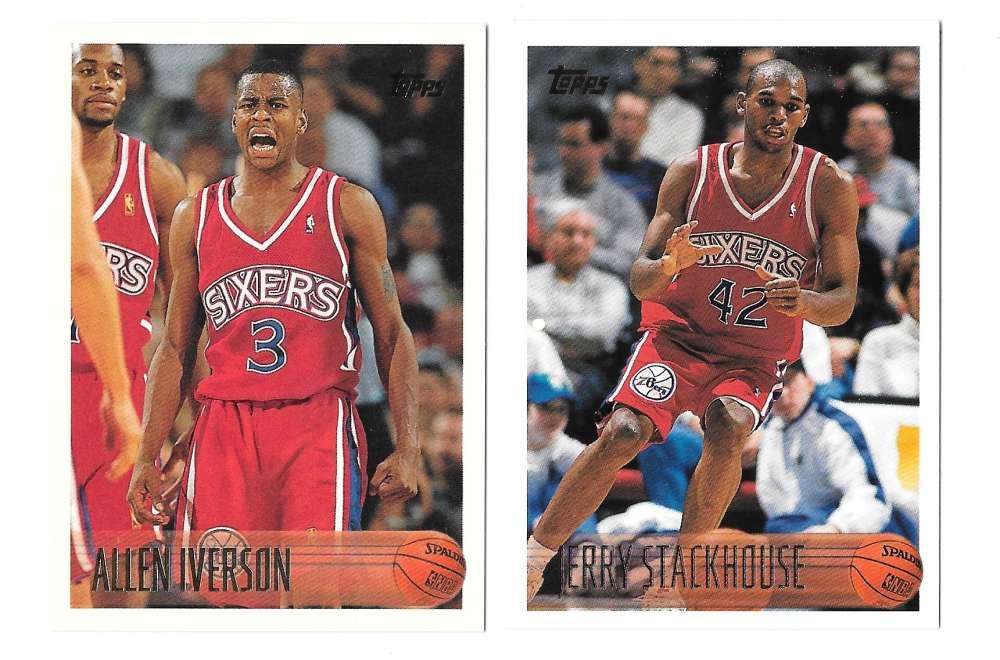 1996-97 Topps Basketball Team Set - Philadelphia 76ers