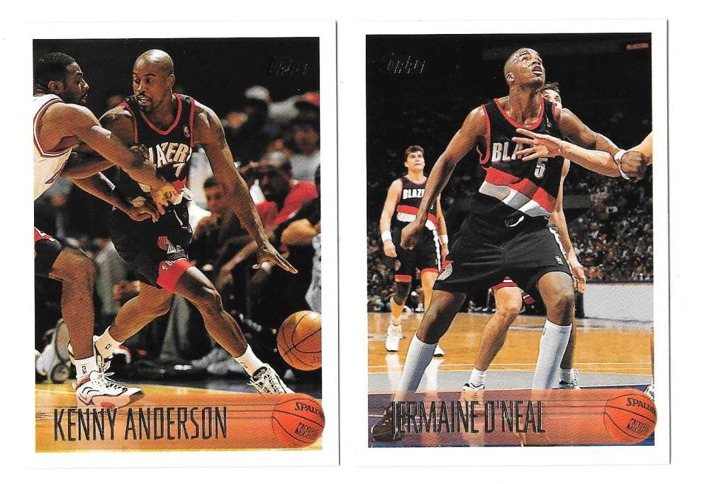 1996-97 Topps Basketball Team Set - Portland Trail Blazers