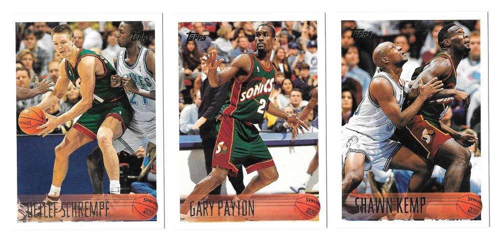1996-97 Topps Basketball Team Set - Seattle Supersonics