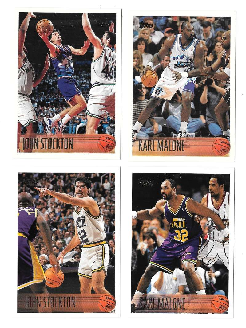 1996-97 Topps Basketball Team Set - Utah Jazz
