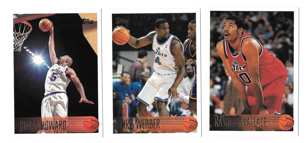1996-97 Topps Basketball Team Set - Washington Bullets