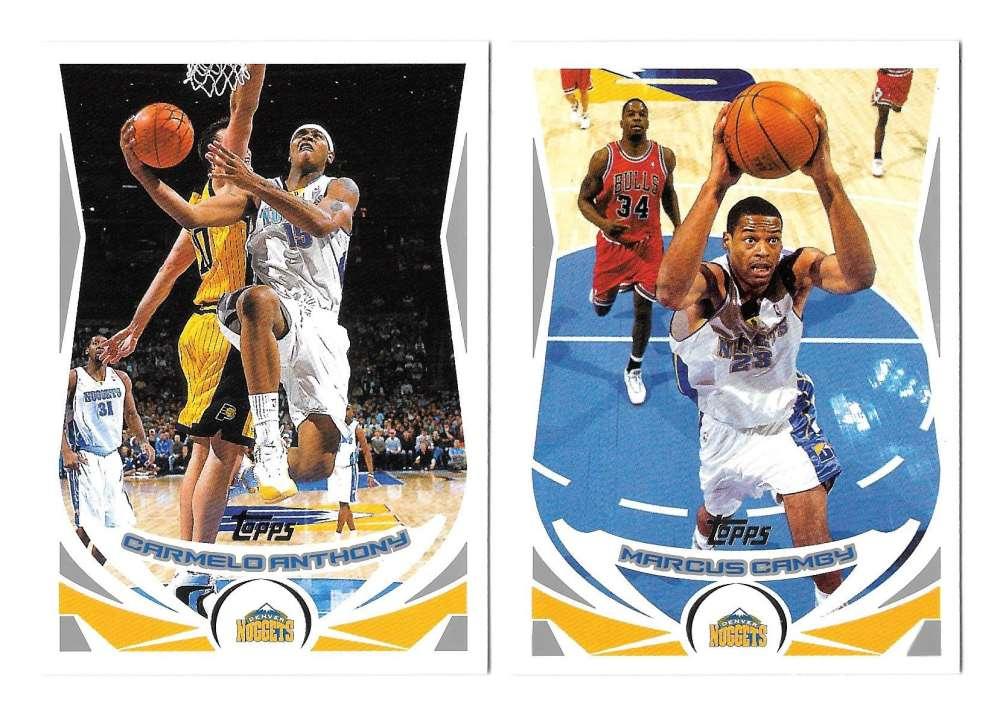 2004-05 Topps Basketball Team Set - Denver Nuggets