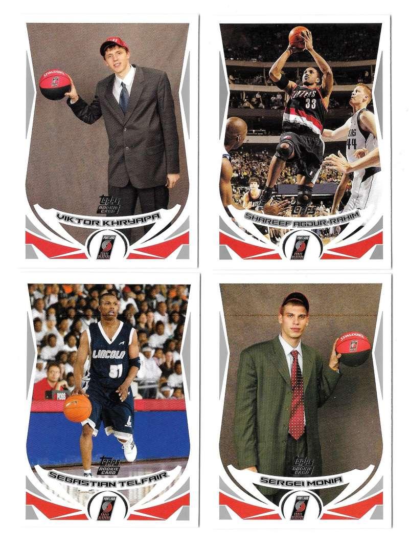 2004-05 Topps Basketball Team Set - Portland Trail Blazers