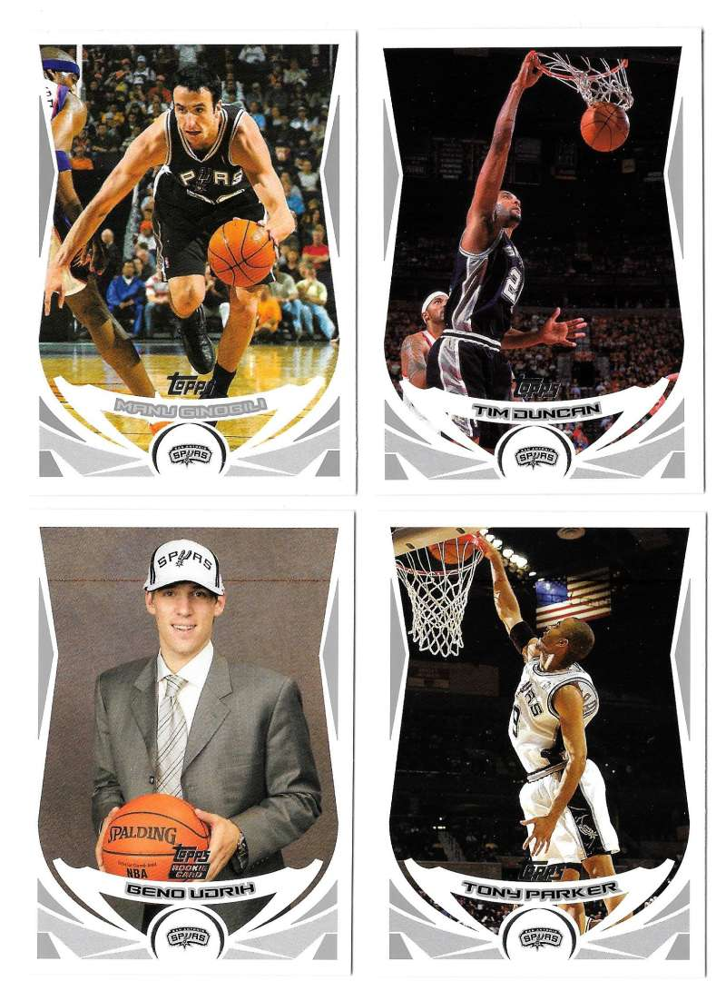 2004-05 Topps Basketball Team Set - San Antonio Spurs