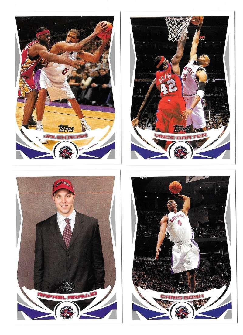 2004-05 Topps Basketball Team Set - Toronto Raptors