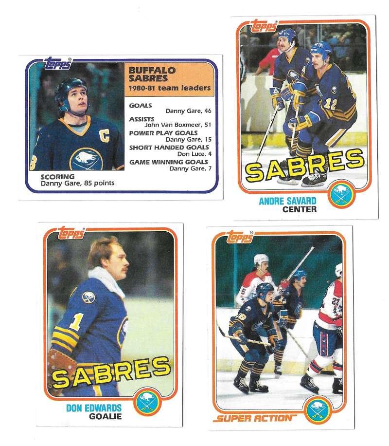 1981-82 Topps Hockey Team Set - Buffalo Sabres
