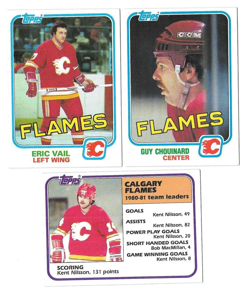 1981-82 Topps Hockey Team Set - Calgary Flames
