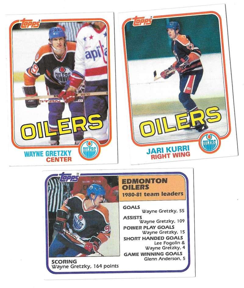 1981-82 Topps Hockey Team Set - Edmonton Oilers
